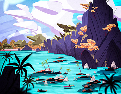 illustration 2D (landscapes and characters)