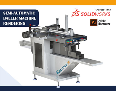 Semi automatic Baler machine Rendering