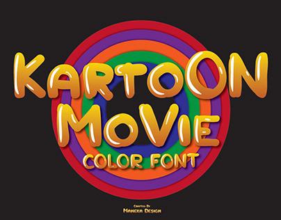 Kartoon Movie ( Color Font )
