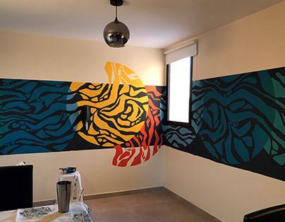 Mural de interior. Commisioned mural.