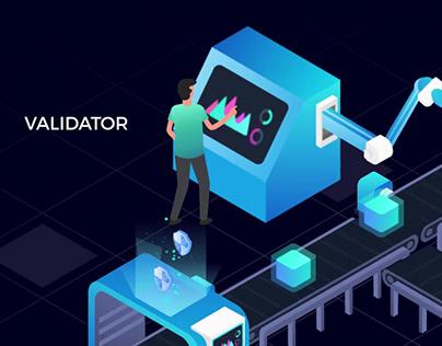 Blockchain DPOS animation