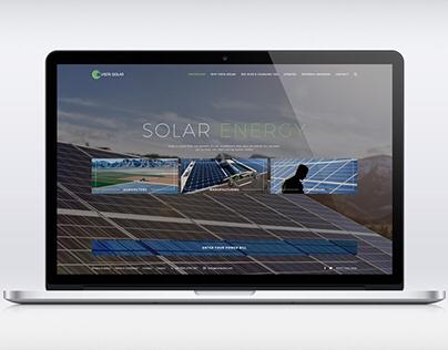 Solar company web design