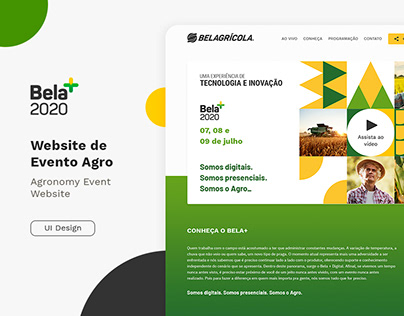 Bela+ 2020 - landing Page de evento agro