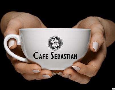 طراحی لوگو کافه سباستین cafe Sebastian logo design