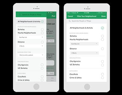 Nextdoor App Redesign