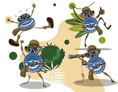 Mascot design. Character illustration.