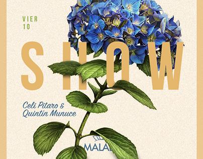 MALALA - Grafica para un almacén de flores y resto bar