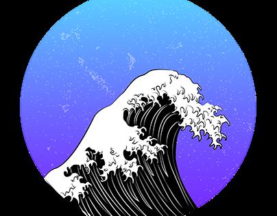 """Interpretación de la obra """"La gran ola de Kanagawa"""""""