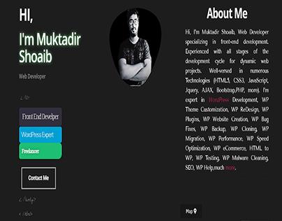 Best Portfolio Design Website by Muktadir Shoaib