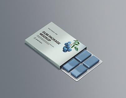 Chewing Gum Packaging Mockup