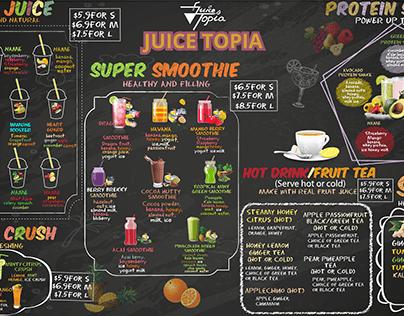 Chalkoard design for juice