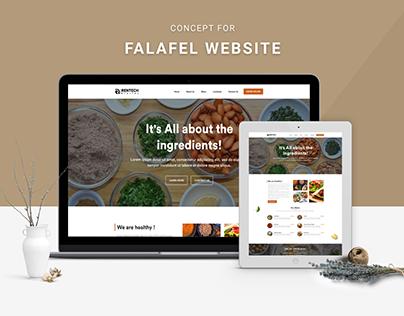 Falafel Restaurant Landing Page