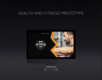 Website | Health & Fitness Prototype (UI)