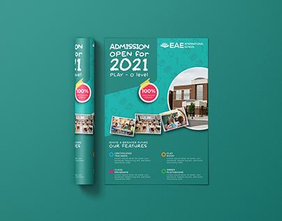 EAE International School | A4 Flyer / Leaflet