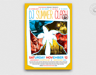 DJ Summer Clash Flyer Template