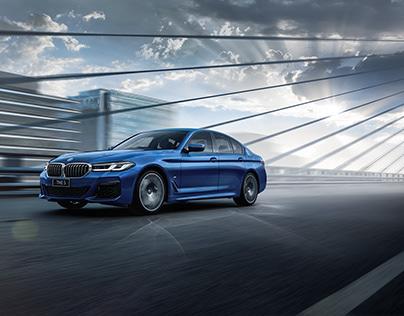 BMW - The 5 - Print + OOH Creatives - FULL CGI