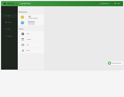 Faculty evaluation portal redesign