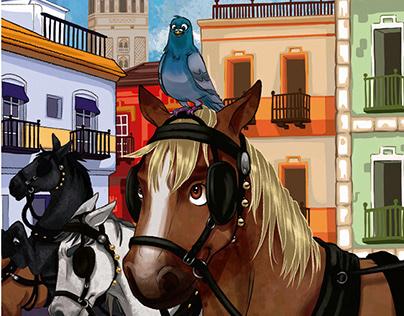 Book illustration: Der Aufstand der Pferde
