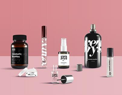 FREE | Cosmetic Bottles Mockup