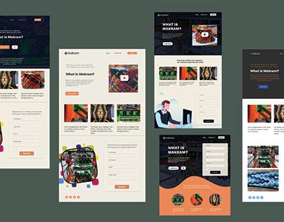 Makram Landing Page Concepts