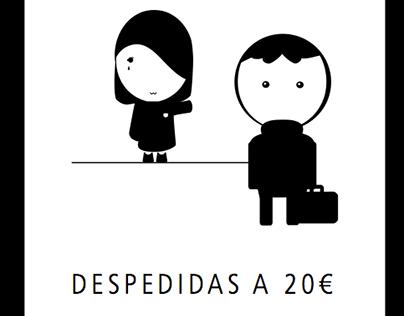 """Cartel Cortometraje """"Despedidas"""" 2013"""