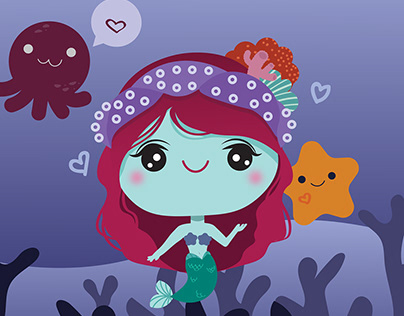 Kawaii mermaid
