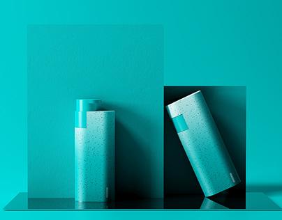 """""""极简几何""""— 100ML便携乳液瓶设计"""
