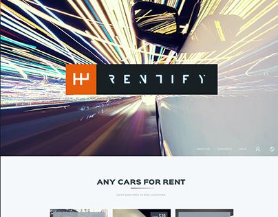 Rentify - Car Rental & Booking PSD Template