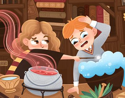 Character design. Fan art Harry Potter.