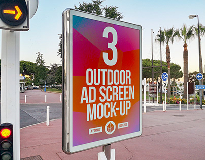 Outdoor Advertising Screen Mock-Ups 6 (v.2)