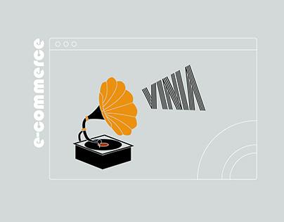 Vinyl records shop