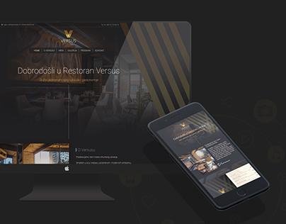 Versus Restaurant Web/UX/Branding design