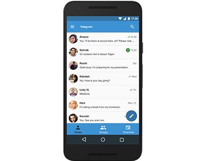 Inspirational Design for Telegram android app