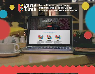 Продающий сайт для пространства Party Time в СПб