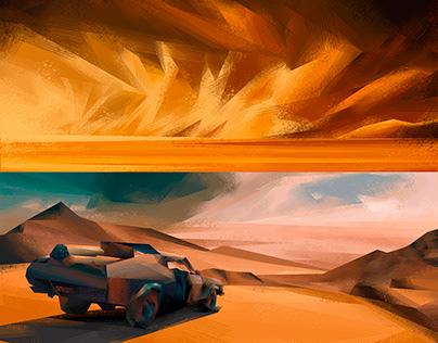 2D Environments / Mad Max: Fury Road / Fan Art