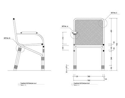 TECHNICAL DRAWING Rattan Furniture