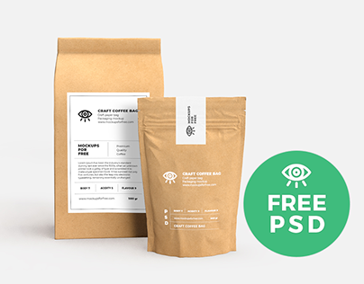 Craft Paper Bags Mockup / Free PSD