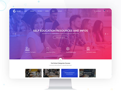 Edumy - LMS Online Education Course & School PSD Templa