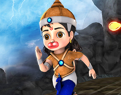 Little Hanuman-Mobile Game Ui and Promo Graphics