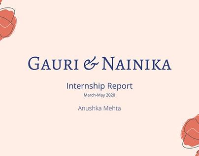 Internship Report (Gauri & Nainika)