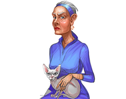 Work in progress _The old woman and the cat