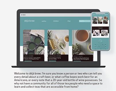 Déjà Brew | Tea Web Platform