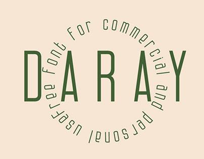 DARAY - FREE SAN-SERIF FONT