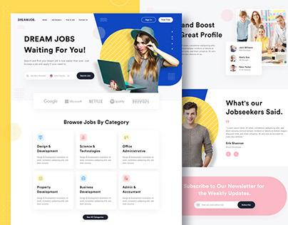 DreamJob - Job Finder Landing Page