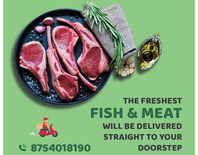 Fish & Meat Social Media Post