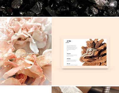 Luxury jewelry webdesign