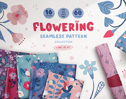 FLOWERING | Clipart & Patterns