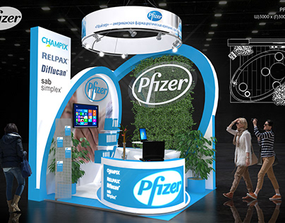 EXHIBITION STAND FOR PFIZER