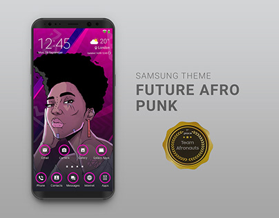Samsung Design Jam Competition - Afronauts Mobile Theme