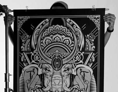058 - Oversized Silk Screen Prints